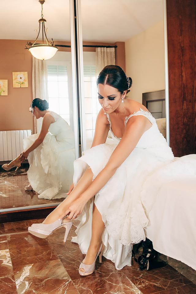 Calzando de novia