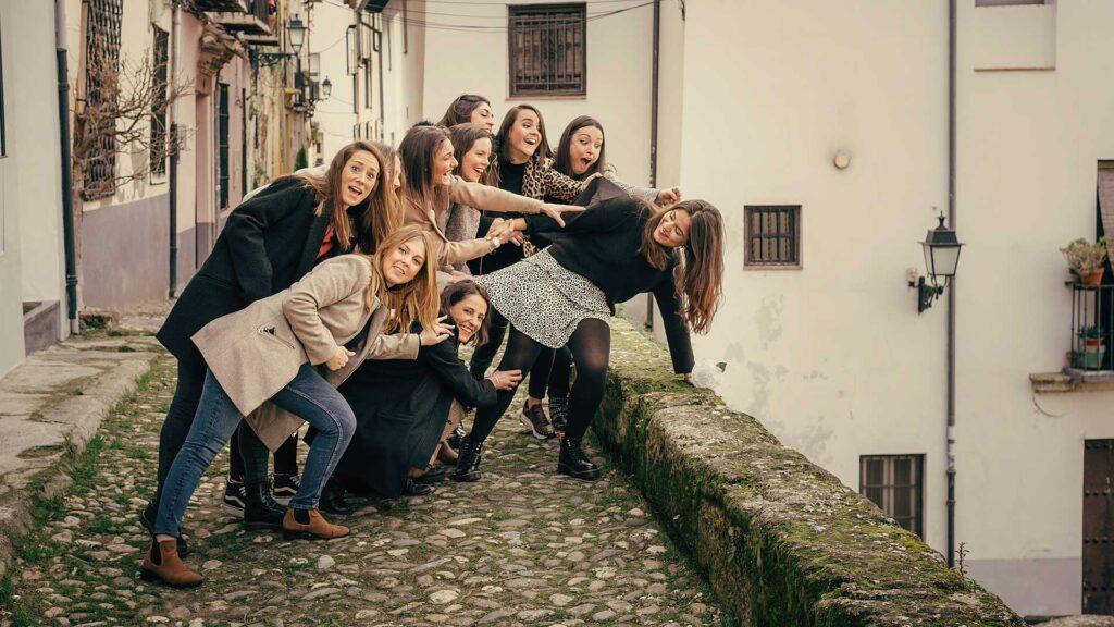 Foto de despedida de soltera en Granada